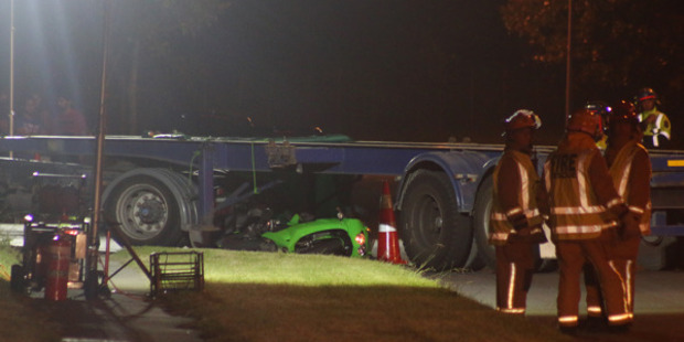 Loading Police say the accident happened just after midnight in Mangere East. Photo / Daniel Hines