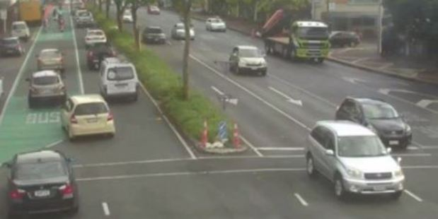 Some motorists tried their luck in the bus lanes. Photo / NZTA