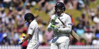Tom Latham and Martin Guptill put on 81 for the opening stand yesterday, a rarity for the Black Caps against Australia. Photo / Getty