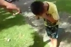 A video showing a young boy caught in the crossfire of police pepper spray has surfaced on Facebook.