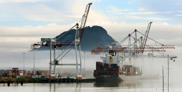 Fog starts to lift the Port of Tauranga. Photo/file