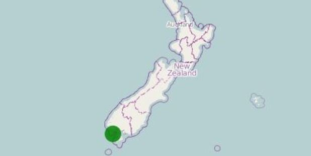 A map showing the quake location. Photo: www.geonet.org.nz