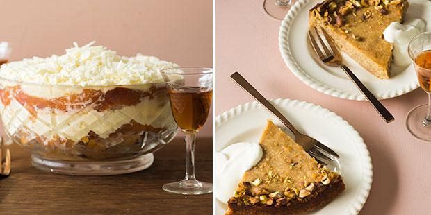 Tiramisu packed with nectarines and the Persian love cake. Photos / Bite magazine