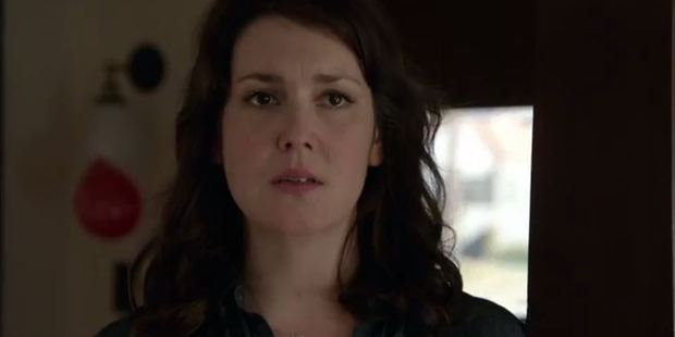 Melanie Lynskey as Michelle in the TV show Togetherness.