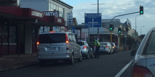 Police are stopping people using bus lanes on Dominion Rd. Photo / Supplied
