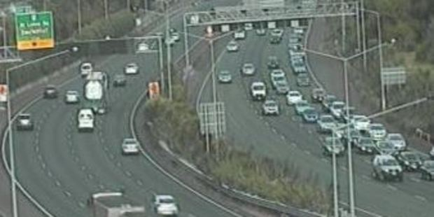 Traffic at Bond St looking West. Photo / NZTA