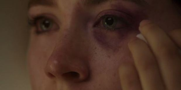 Actress Saoirse Ronan in Hozier's new video, which speaks out about domestic violence.