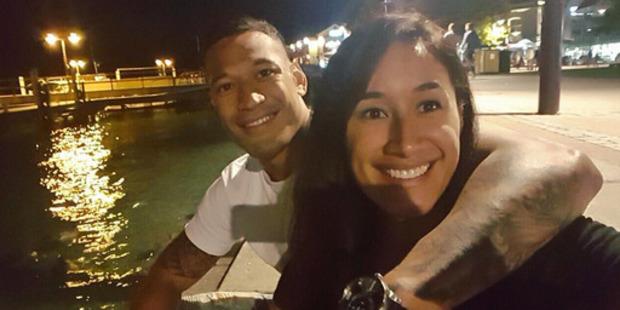 Sports stars Maria Tutaia and Israel Folau. Photo / Instagram