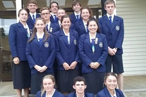 The Dannevirke High School prefects for 2016.