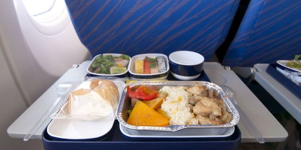 Don't eat that in-flight meal, unless it's sealed. Photo / 123RF
