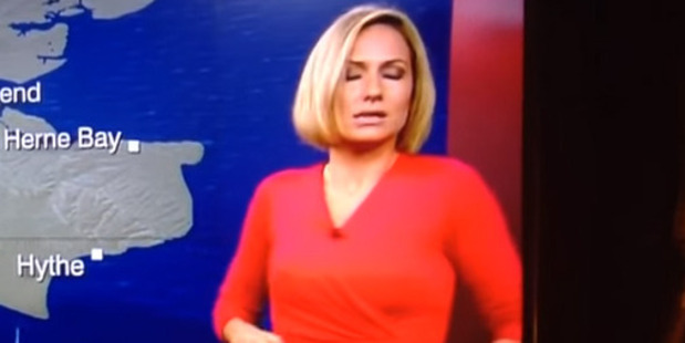 Loading BBC South East Today weather presenter Rachel Mackley faints live on air.
