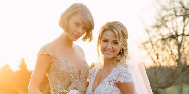 Taylor Swift was maid of honour for her childhood friend, Brit Maack. Photo / Instagram