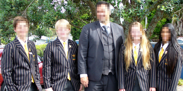 The students complained their uniforms were too warm for the stifling weather. Photo / Supplied