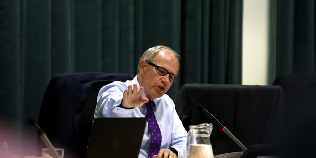 Loading Mayor Len Brown feels the pressure during the Auckland Council Unitary Plan meeting held at the Auckland Town Hall. Photo / Dean Purcell