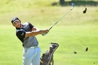 2016 Grant Clements Memorial 72 Hole Tournament winner Luke Toomey in action at Mount Maunganui Golf Club yesterday. Photo / George Novak