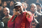 Kanye West pumps up the crowds at Madison Square Garden earlier this month. Photo / Getty Images