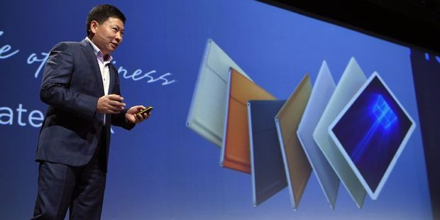 Richard Yu says Huawei used  its experience from making phones to create the MateBook. Photo / AFP