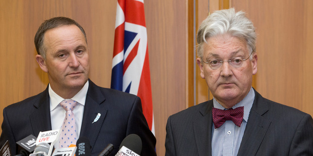 Prime Minister John Key and United Future leader Peter Dunne. Photo / Mark Mitchell
