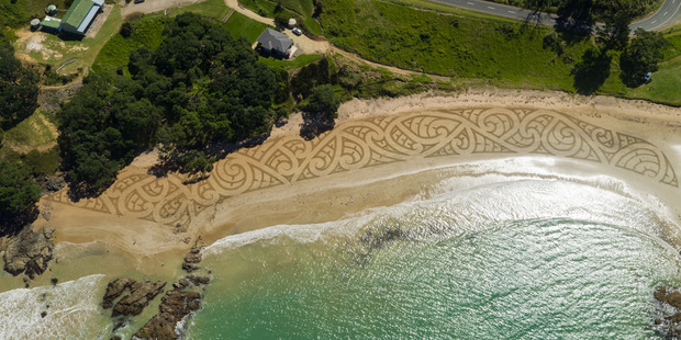 The design was photographed from above by drone. Photo / Jonathan Clark