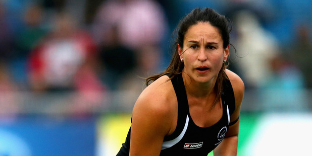 Kayla Whitelock of New Zealand in action for the Black Sticks. Photo / Getty Images