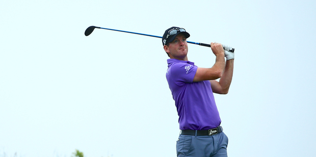 Josh Geary of New Zealand in action during the Lanhai Open at Lan Hai International. Photo / Getty Images
