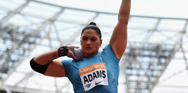 Valerie Adams in the Womens Shot Put during the Diamond League event in London. Photo / Getty Images
