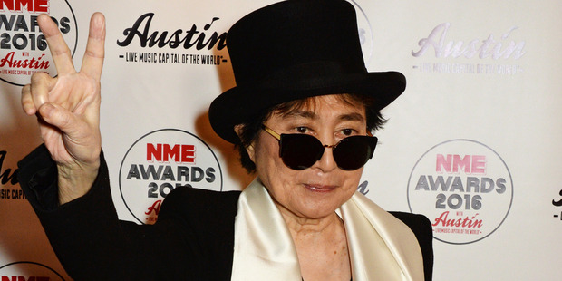 February 17, 2016: Yoko Ono at the NME Awards. Photo / Getty Images