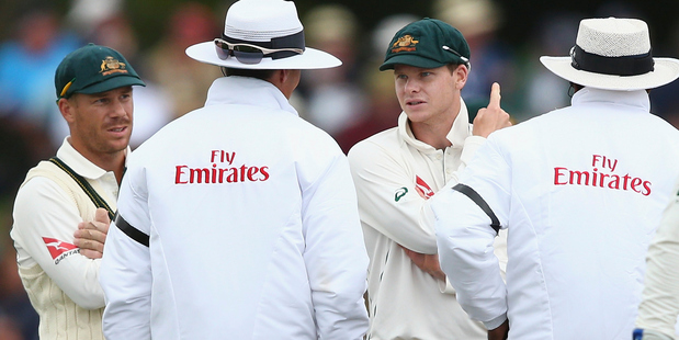 Loading Steve Smith has been charged with dissent for his role in the controversy on day four. Photo / Getty