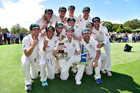 Australia celebrate the Trans-Tasman trophy after winning the second test. Photo / Getty
