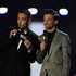Liam Payne and Louis Tomlinson on stage. Photo / Getty Images