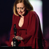 Adele with her Global Success Award. Photo / Getty Images