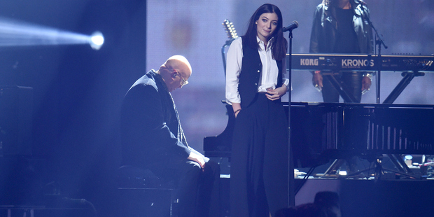 Lorde wowed the crowds with her heartfelt tribute to her music hero. Photo / Getty Imag