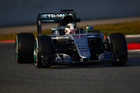 Lewis Hamilton of Great Britain and Mercedes GP drives during day four of F1 winter testing. Photo / Getty Images