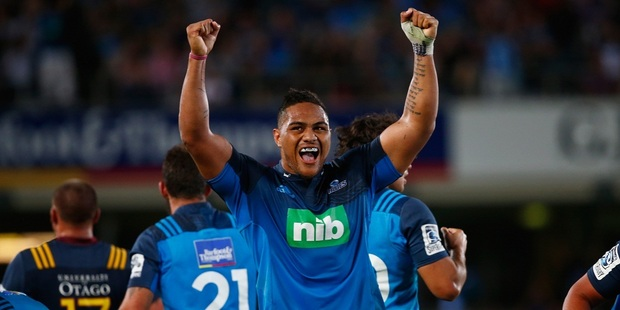 Ofa Tuungafasi of the Blues celebrates. Photo / Getty