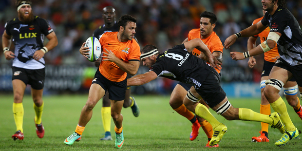 A brace of tries to Martin Landajo helped the Jaguares get off to a winning start to in their Super Rugby debut against the Cheetahs. Photo/Getty