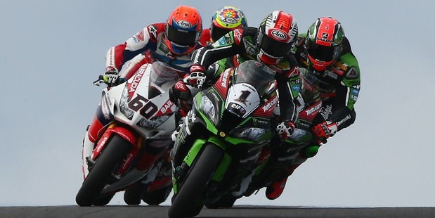 Jonathan Rea rides during World Superbike Championship at Phillip Island. Photo / Getty Images