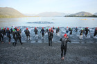The Swim Leg of Challenge Wanaka at Lake Wanaka. Photo / Getty Images