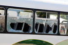 A bus full of school children was attacked during a gang related dispute. Photo / Hawkes Bay Today