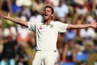 Josh Hazlewood of Australia appeals for a wicket during day three of the Test match between New Zealand and Australia. Photo / Getty Images.