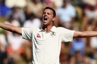 Australian bowler Josh Hazlewood's behaviour has turned septic before lunch on the fourth day of the second test against New Zealand.