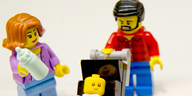 Lego's hipster dad comes complete with a beard and flannel shirt. Photo / Getty, AFP
