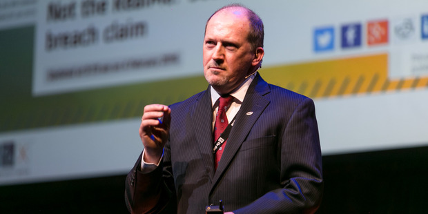 Loading Keynote speaker at the PwC Herald Talks, Garry Barnes, vice president of ISACA, said in previous times most cybersecurity threats targeted government organisations. Photo / Max Lemesh