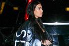 Kim Kardashian wears Clara Chon's hand-painted jacket to her friend's birthday dinner in Malibu. Photo / BackGrid