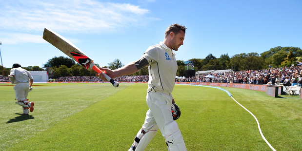 The world media have reacted with astonishment and admiration after Brendon McCullum's record breaking century against Australia in Christchurch. Photo / Photosport.nz