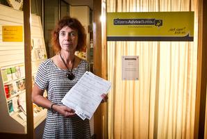 Citizen Advice Bureau's Jane Eynon-Richards of bonds remain untouched is shocked by the figure. PHOTO/STEPHEN PARKER