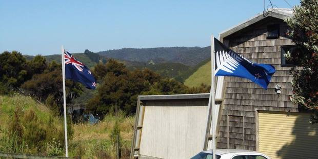 Flags flying in Whangaroa. Photo / Facebook
