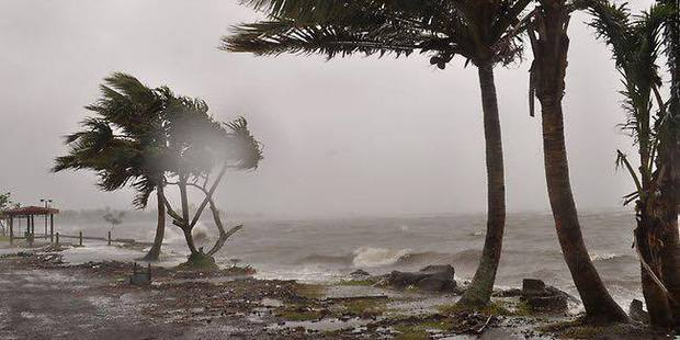 Cyclone Winston hits Taveuni. Photo / Ronal Singh via NaDraki Weather Facebook