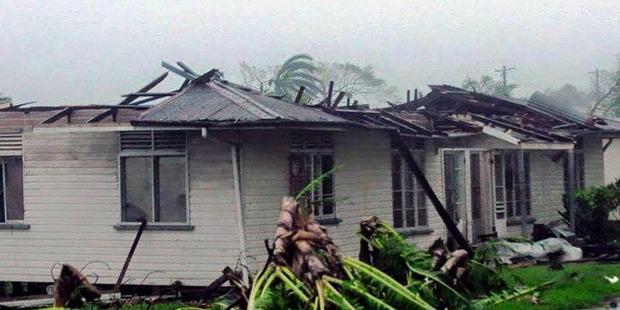 Damage from Cyclone Winston to houses in Taveuni. Photo / Di Liti Sekitoga via NaDraki Weather Facebook