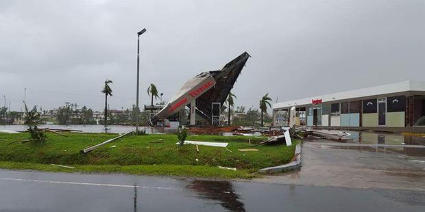 Cyclone Winston damage at Ba, Western Fiji. Photo / Jay Dayal