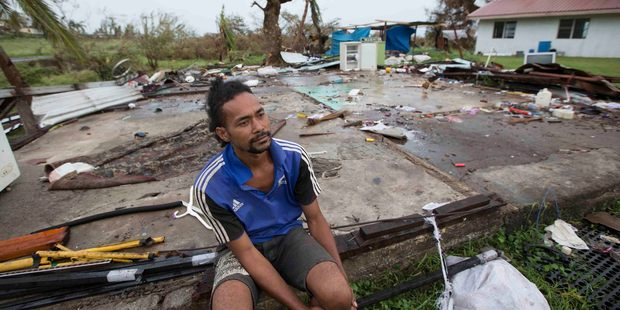 Asesela Sadole Fong's home at south of Ba was destroyed after cyclone Winston hit. Photo / Brett Phibbs